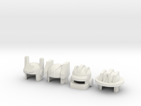 Robohelmets: Emergency Crew in White Natural Versatile Plastic