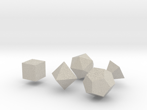 Platonic Solids in Natural Sandstone