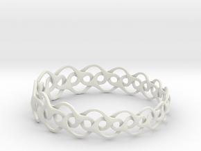 Bracelet I Medium in White Natural Versatile Plastic