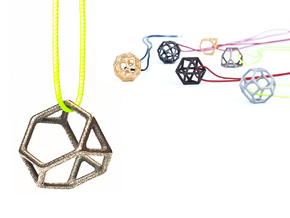 Polyhedral Jewelry: Truncated Tetrahedron in Polished Bronzed Silver Steel