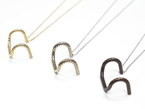 Detour Handlebar Necklace in Polished Bronzed Silver Steel