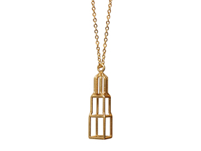 Domtoren Pendant (Small) in Polished Brass