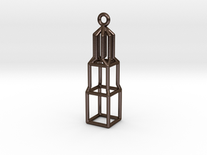 Domtoren Pendant (Small) in Polished Bronze Steel