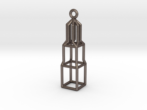 Domtoren Pendant (Small) in Polished Bronzed Silver Steel