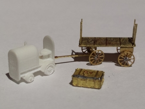 Baggage Cart Tractor N Scale in Smoothest Fine Detail Plastic