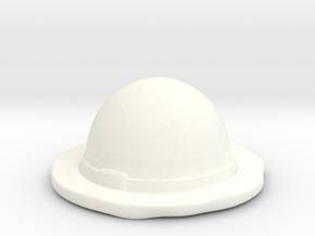 Straw Hat  in White Processed Versatile Plastic