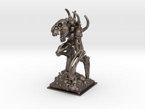 Bone golem miniature 39mm in Polished Bronzed Silver Steel