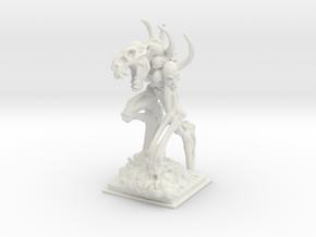 Bone golem miniature 77mm in White Natural Versatile Plastic