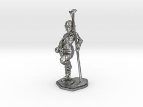 elven healer 39mm miniature in Natural Silver