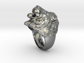 Lion Ring in Polished Silver: 11.5 / 65.25