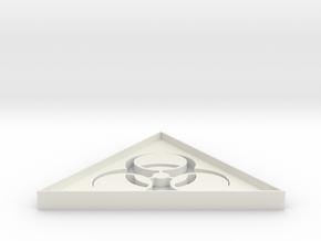 Biohazard 2 - 5 cm in White Natural Versatile Plastic