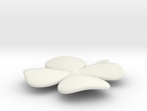 Four-Leaf Clover in White Natural Versatile Plastic