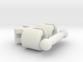 Kogel Koppeling Spoor N in White Natural Versatile Plastic