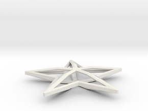 Ornament in White Natural Versatile Plastic