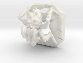 Dungeon bug in White Natural Versatile Plastic