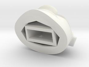 Moai Head USB cap in White Natural Versatile Plastic