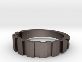 Gear in Polished Bronzed Silver Steel