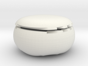 CheeseWheel box v2 in White Natural Versatile Plastic