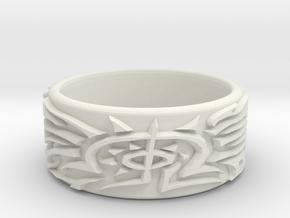 Eldritch Ring - Finger - Size 10ish in White Natural Versatile Plastic
