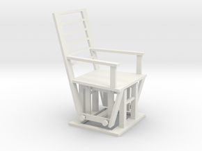 Gliding Chair in White Natural Versatile Plastic