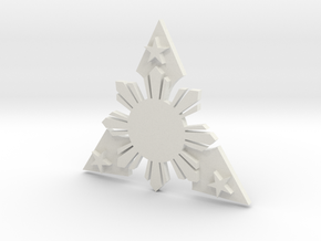 Sun_star__dog_tag_tri_style_003.dae in White Natural Versatile Plastic