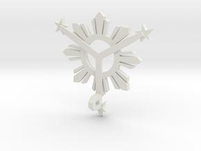 Sun_Star_Final_004_Back_loop.dae in White Natural Versatile Plastic