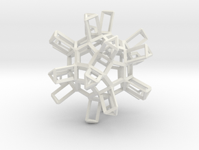 Dodecahedron TopMod in White Natural Versatile Plastic