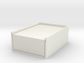 Card Box in White Natural Versatile Plastic