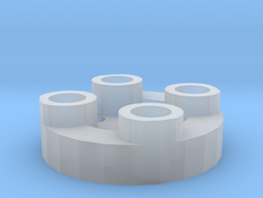 Sewable Disc Button - Base Design in Smooth Fine Detail Plastic
