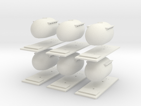 "6 Pack CIE Bulk ""Bubble"" Cement Tank N Scale in White Natural Versatile Plastic"