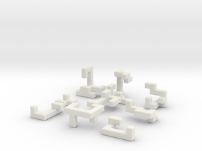 Switch Cube (1.5cm) in White Natural Versatile Plastic