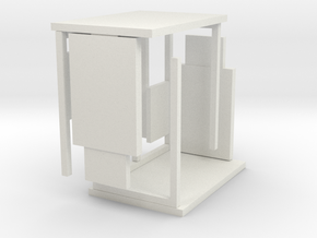1:76th bus shelter 3 (2 pack) in White Natural Versatile Plastic