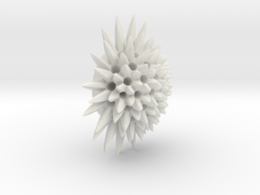 Spiked Coral in White Natural Versatile Plastic