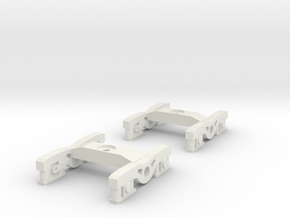 1 Pair of N Scale Standard Irish Railway Bogies in White Strong & Flexible