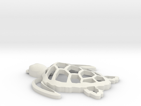 Sea turtle ornament Final in White Natural Versatile Plastic