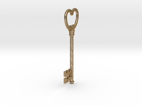 Bottle Key in Polished Gold Steel