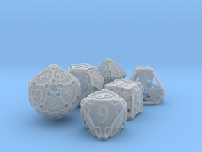 Large Premier Dice Set in Smooth Fine Detail Plastic