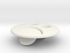 Smiley Sad Emotibotton in White Natural Versatile Plastic