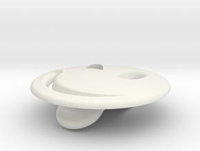 Wink Emotibotton in White Natural Versatile Plastic