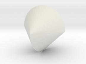 sphericon in White Natural Versatile Plastic