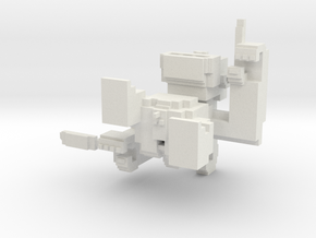 Medium Pixel Monkey in White Natural Versatile Plastic