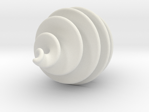 Spiral Ornament in White Natural Versatile Plastic