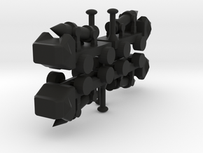 8 Missile Launcher x4 in Black Strong & Flexible
