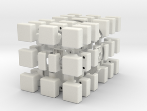 Cubic 3x3x6 Type 2 in White Natural Versatile Plastic