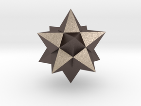Small stellated dodecahedron (small) in Stainless Steel