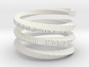 Napkin ring - Block helix in White Natural Versatile Plastic