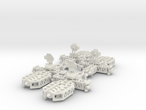 8 Long Range Spaceship x4 in White Natural Versatile Plastic