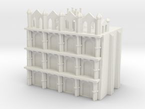 Gothic Residential Block in White Natural Versatile Plastic