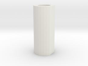 "pommel core hollow 2"" in White Natural Versatile Plastic"