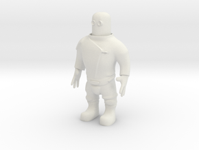 Spaceman (28mm) in White Natural Versatile Plastic